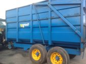 Used West 10 ton silage trailer
